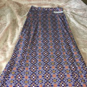 NWT Loveappella Bright & Colorful Maxi Skirt